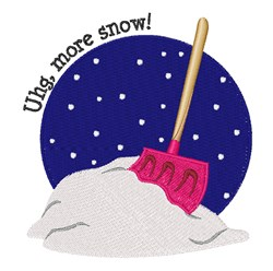 More Snow embroidery design