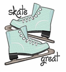 Skate Great embroidery design