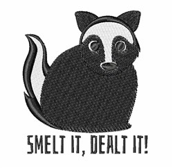 Smelt It embroidery design