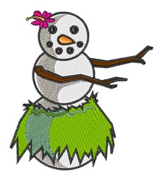 Hula Snowman embroidery design