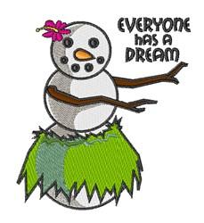 Everyone Has Dream embroidery design