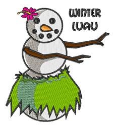 Winter Luau embroidery design
