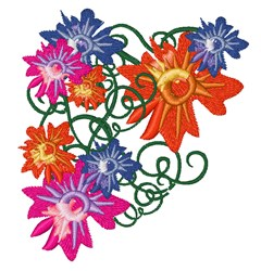 Floral Swirl embroidery design