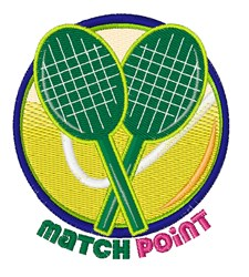 Match Point embroidery design