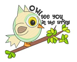 Owl See You embroidery design