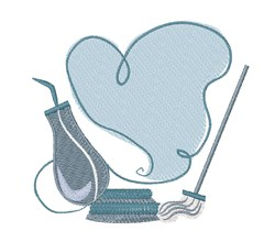 House Cleaning embroidery design