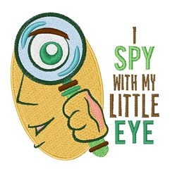I Spy embroidery design