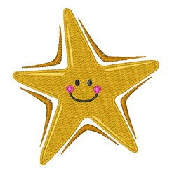 Smiling Star embroidery design