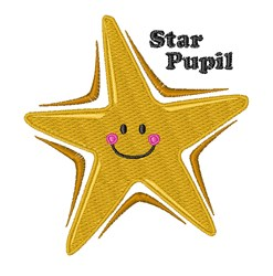 Star Pupil embroidery design