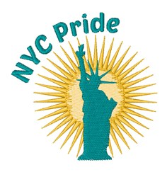 NYC Pride embroidery design
