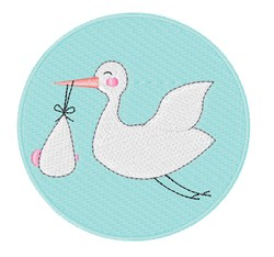 Stork Delivery embroidery design
