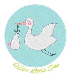 Hello Little One embroidery design