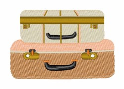 Suitcases embroidery design