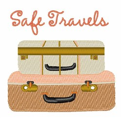 Safe Travels embroidery design