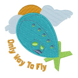 Way To Fly embroidery design