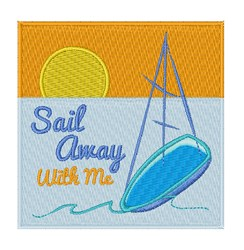 Saiil Away embroidery design