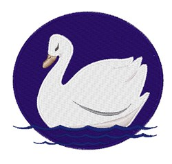 Swan embroidery design