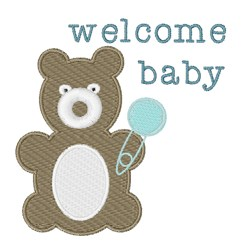 Welcome Baby embroidery design