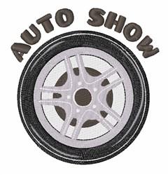 Auto Show embroidery design