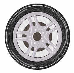 Car Tire embroidery design