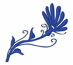 Swirl Flower embroidery design