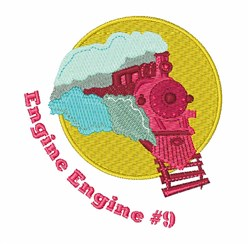 Engine #9 embroidery design