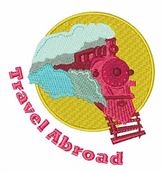 Travel Abroad embroidery design