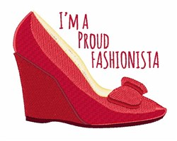 Proud Fashionista embroidery design