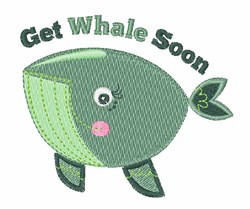 Get Whale Soon embroidery design