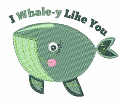 Whale-y Like You embroidery design