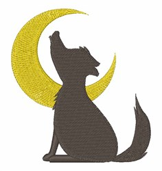 Howl At Moon embroidery design