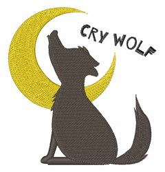 Cry Wolf embroidery design
