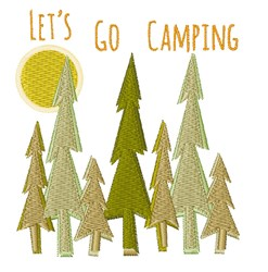 Lets Go Camping embroidery design