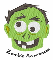Zombie Awareness embroidery design