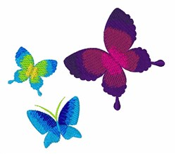 Colorful Buttlerflies embroidery design