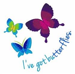 Ive Got Butterflies embroidery design