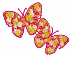 Two Butterflies embroidery design