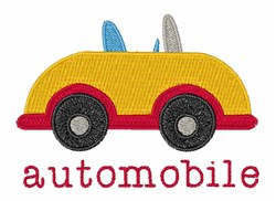 Automobile embroidery design