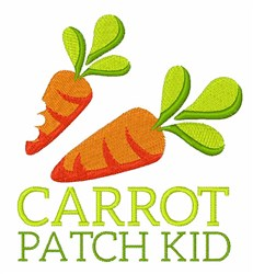 Carrot Patch Kid embroidery design