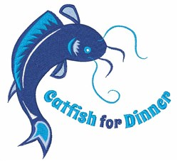 Catfish For Dinner embroidery design