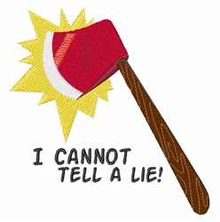 Tell A Lie embroidery design