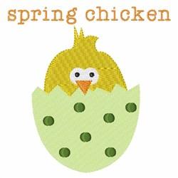 Spring Chicken embroidery design