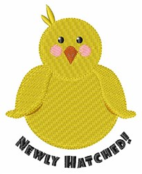 Newly Hatched embroidery design
