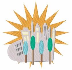 City Skyline embroidery design