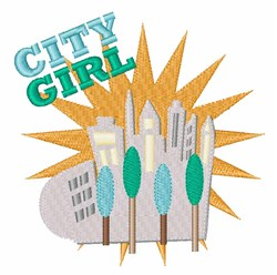 City Girl embroidery design
