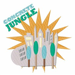 Concrete Jungle embroidery design