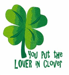 Lover In Clover embroidery design
