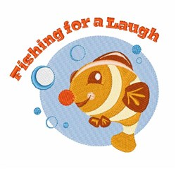 Fishing For Laugh embroidery design