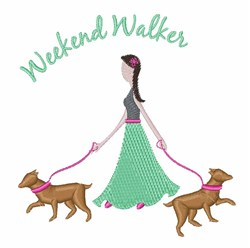 Weekend Walker embroidery design