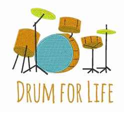 Drum For Life embroidery design